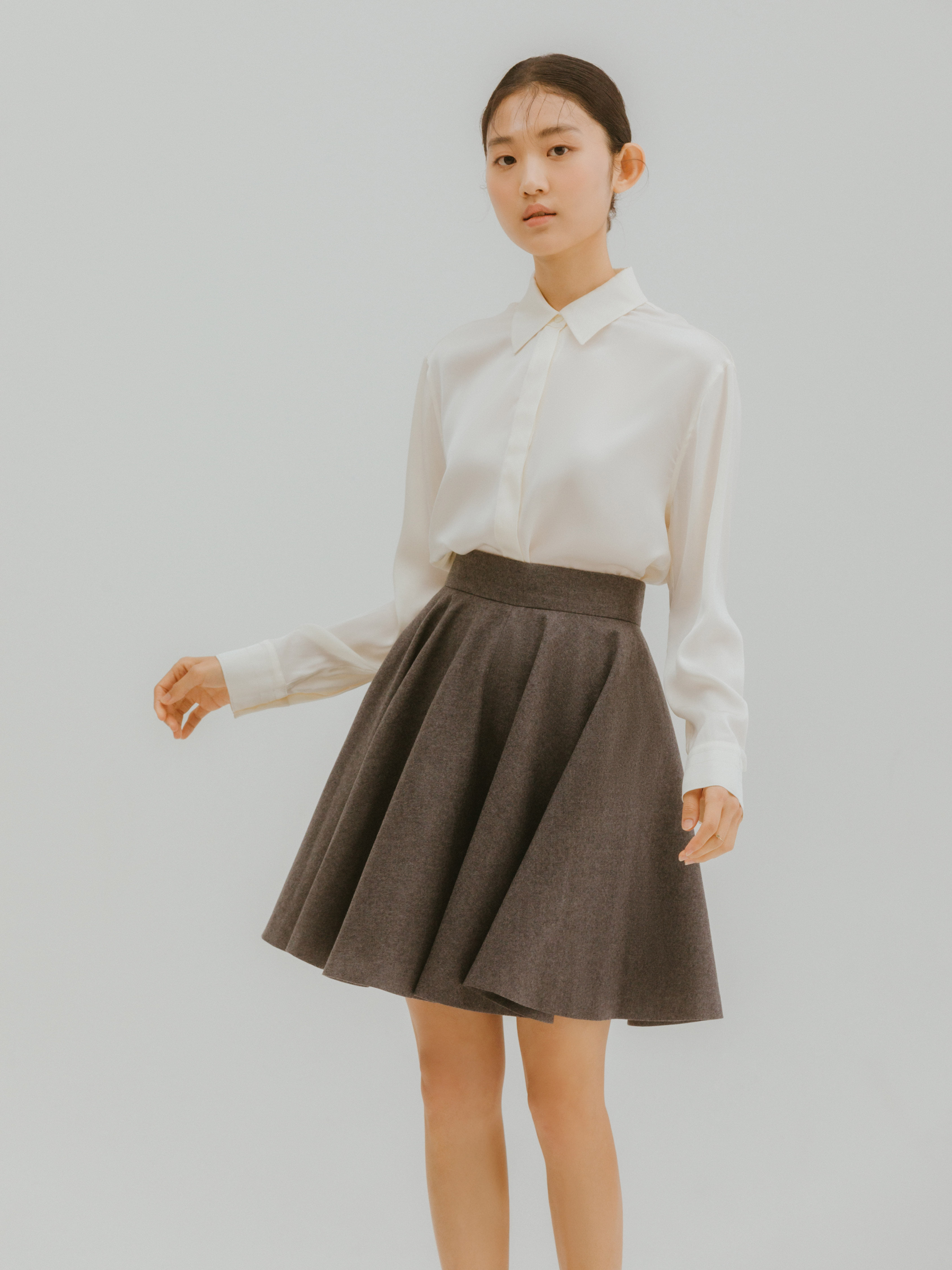 Mellls skirt(Gray)