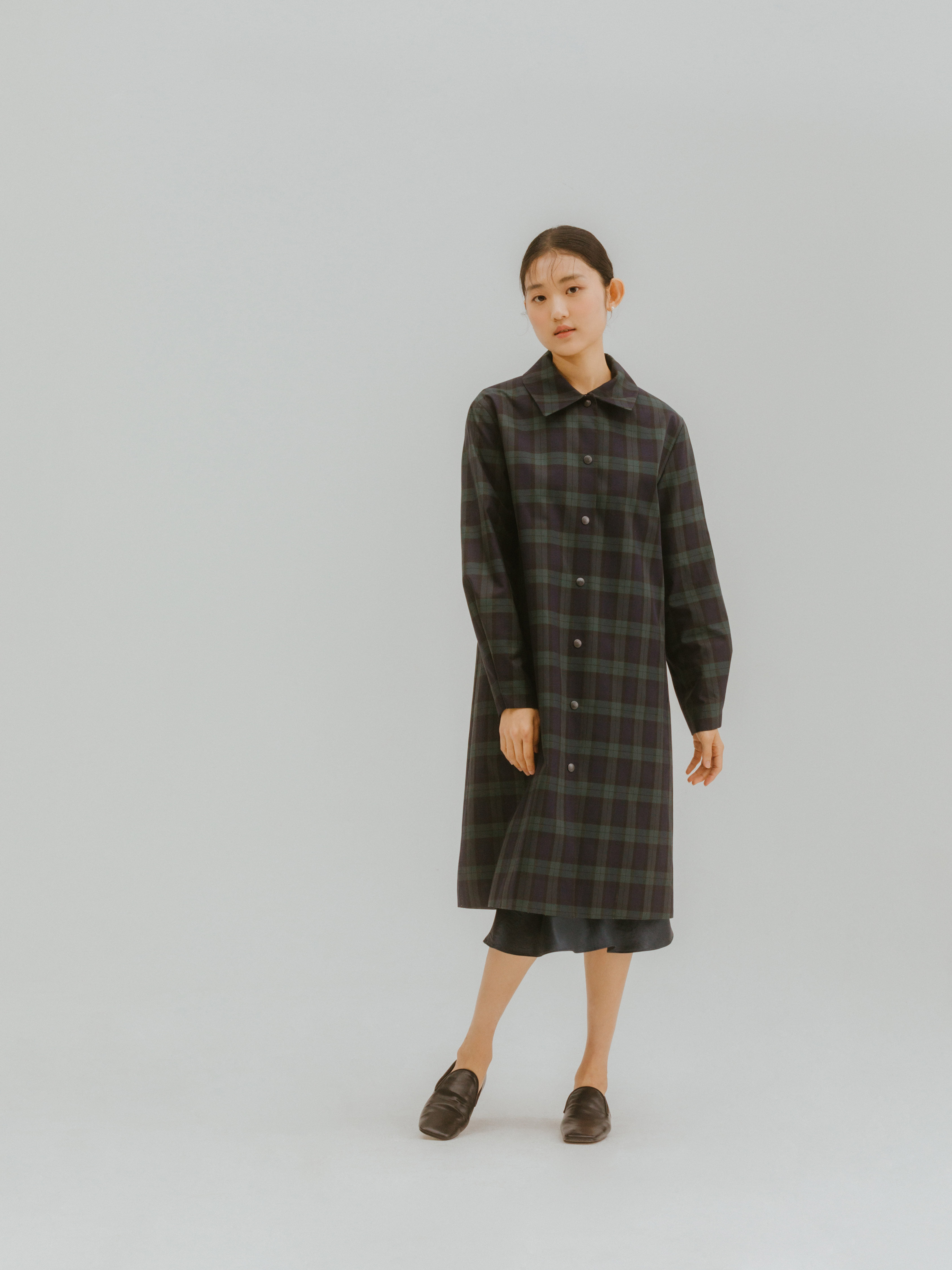 Creo check trench coat (2차 입고)
