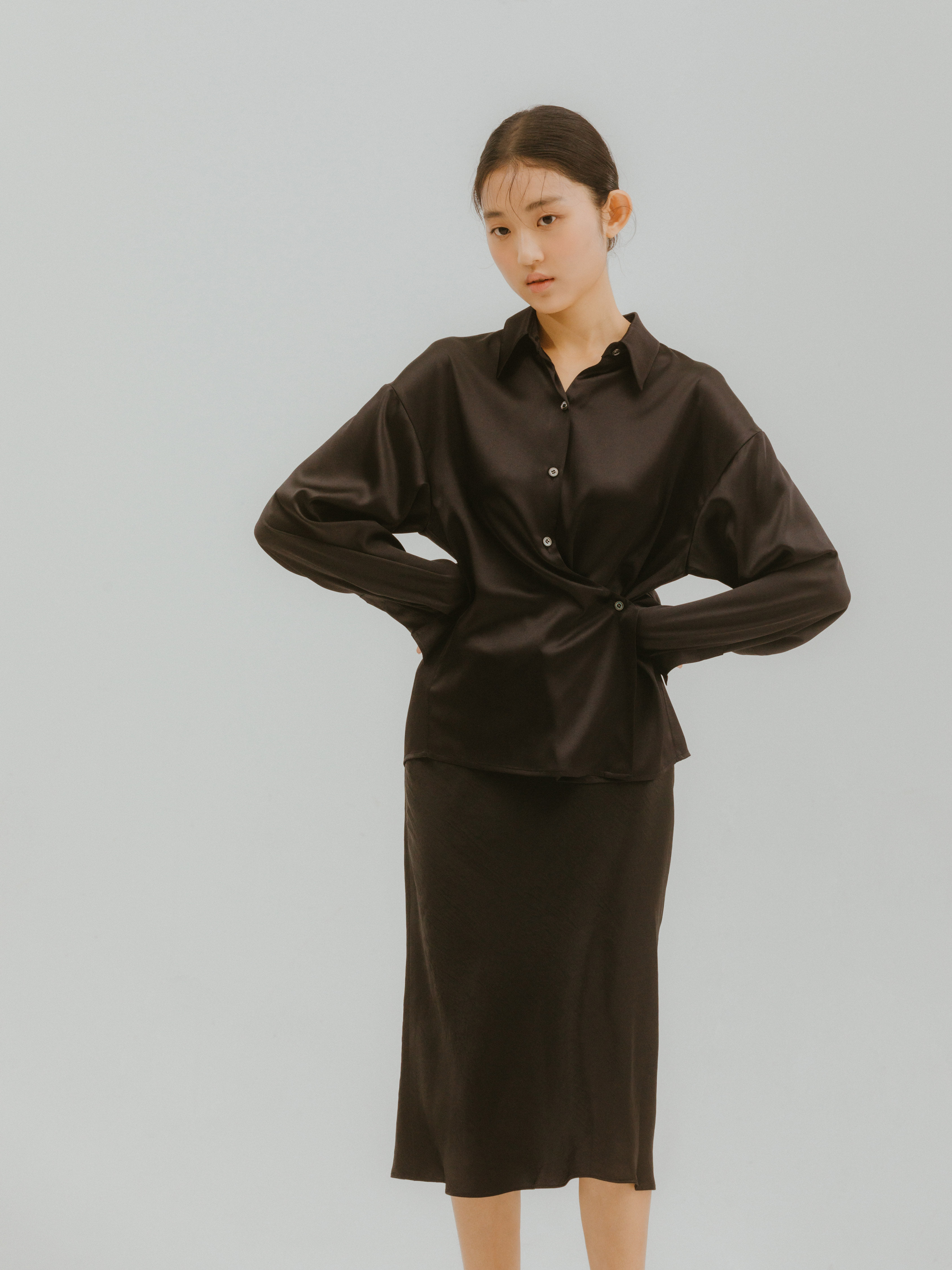 Nuove Silk Shirts(Black) 2차 입고