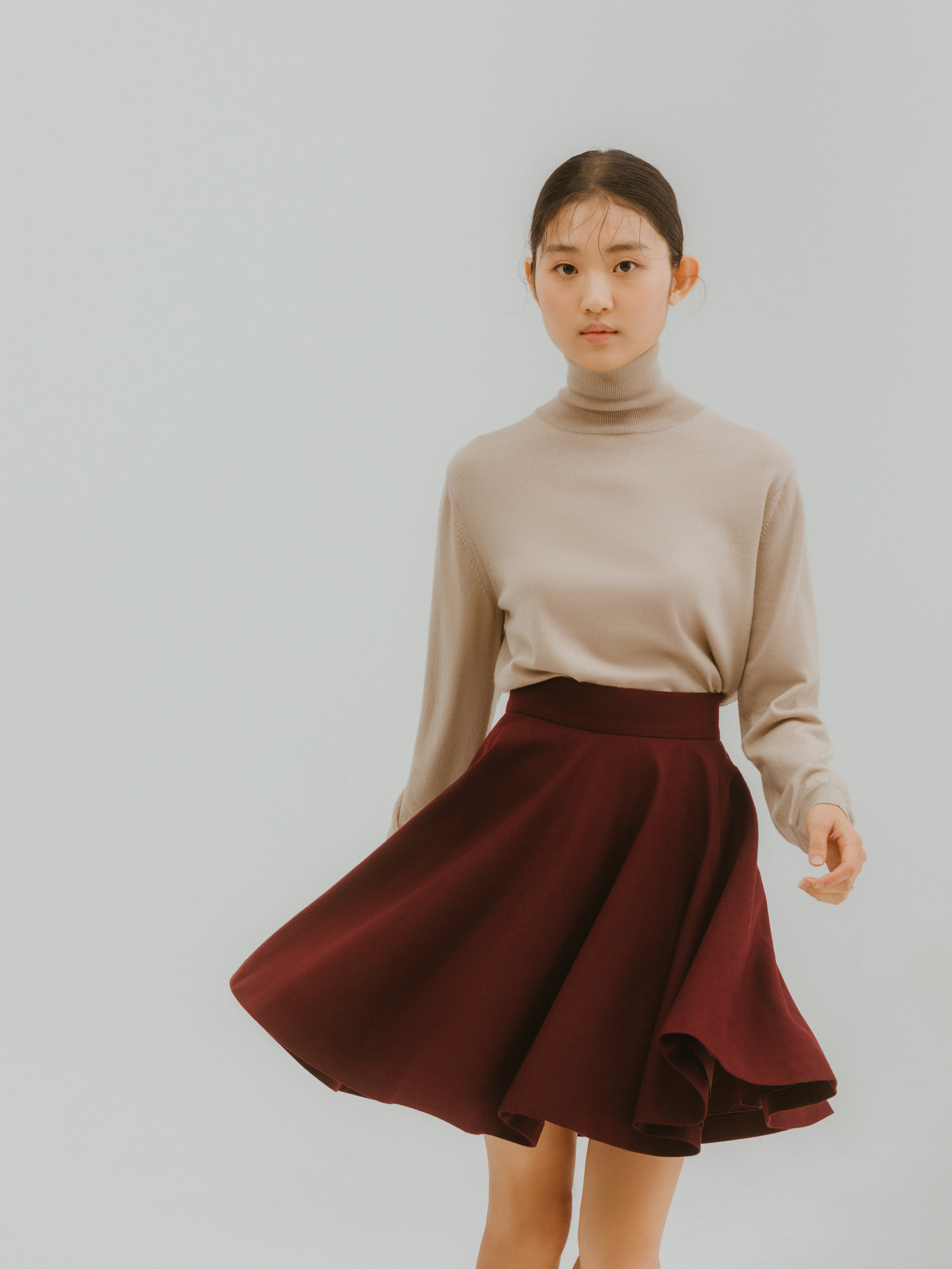 Mellls skirt(Wine) 2차 리오더
