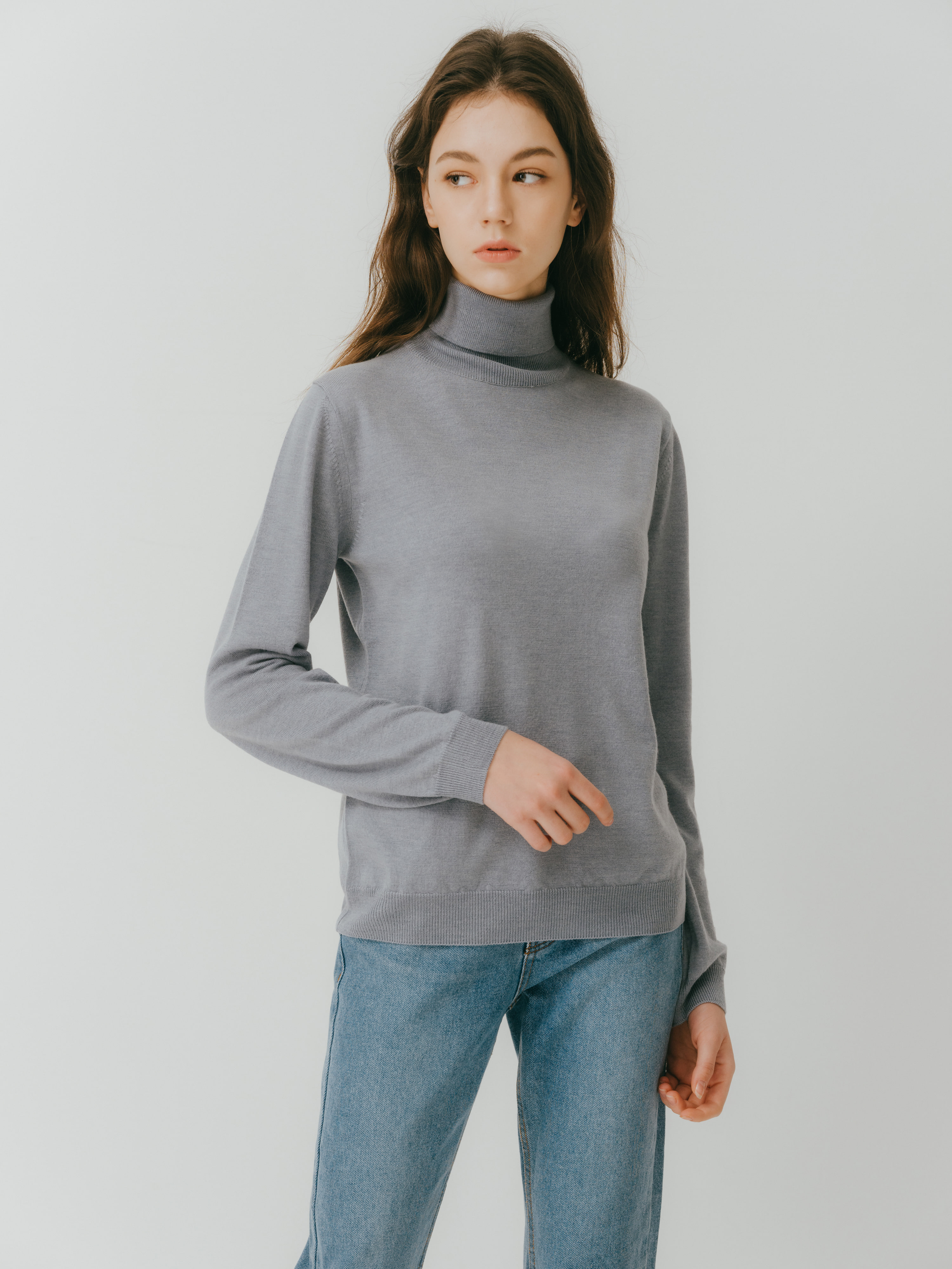 Lonio Turtle neck knit(Blue) 2차 입고