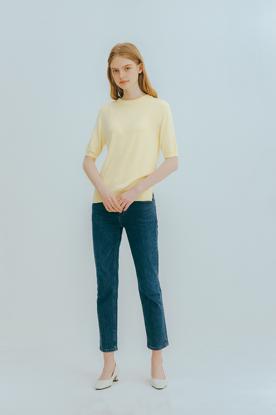 Rona half knit (yellow)